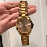Michael Kors Accessories | Michael Kors Runway Rose Watch | Color: Gold/Pink | Size: Os