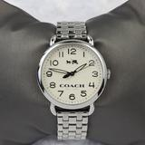 Coach Accessories | Coach 'Delancey' Round Bracelet Watch - Silver | Color: Silver | Size: Approximate Band Circumference: 6 12