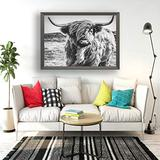 """Guftay Highland Cow Bull Jigsaw Puzzles 1000 Pieces for Adults Black and White Cattle Buffalo Highland Cow Bison Wooden DIY Painting Puzzle Classic Games for Friend Or Family 20""""x30"""""""
