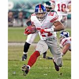 Tiki Barber New York Giants Fanatics Authentic Unsigned White Jersey Running Photograph