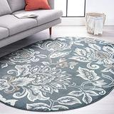 Stella Dark Gray 5x8 Oval Area Rug for Living, Bedroom, or Dining Room - Traditional, Floral