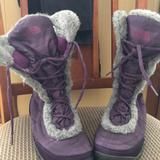The North Face Shoes | North Face Lace Up Womens Fun Winter Boot. | Color: Purple | Size: 9