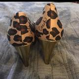 Coach Shoes   Coach Ocelot Peep Toe Shoes   Color: Gold/Red   Size: 10
