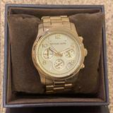 Michael Kors Accessories | Michael Kors Womens Chronograph Gold Watch | Color: Gold | Size: Os