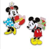 Disney Jewelry   Minnie & Mickey Mouse Couples Pin Set   Color: Silver   Size: Os