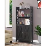 Oxford Bookcase with Cabinet - Convenience Concepts 121050WGY
