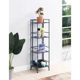 Xtra Storage 4 Tier Folding Metal Shelf - Convenience Concepts 8017CBE