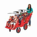 """""""6 Passenger Never Flat """"""""Fat Tire"""""""" Red/Gray Bye Bye Buggy - Children's Factory AFB6400FA"""""""