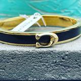Coach Jewelry   Coach Signature Black Bangle Cuff   Color: Black/Gold   Size: Os