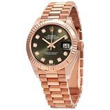 Rolex Lady-Datejust Automatic Diamond Green Dial Ladies Watch 279175GNDP