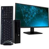 "HP EliteDesk 800 G1 Ultra Small Business PC Desktop Computer, Intel Core i5, 8GB RAM, 500GB HDD, Windows 10 Pro, New 23.6"" FHD LED Monitor, 16GB Flash Drive, Wireless Keyboard & Mouse, WiFi (Renewed)"