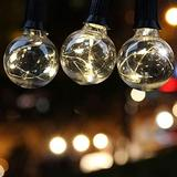 LED Outdoor String Lights - Quarlife Waterproof Patio String Lights - 35FT 30Bulbs G40 Globe String Lights Outdoor Decorative String Lights for Backyard Pergola Party Bistro Porch Cafe - Connectable