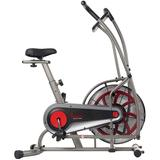 Sunny Health & Fitness Motion Air Fan Exercise Bike with Unlimited Resistance and Tablet Holder - SF-B2916, Grey