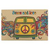 RSADGER Peace Love Car Christmas Puzzles for Adults 1000 Piece Kids Game Toys Gift Home Decor