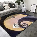 """KasaBlaro Nightmare Before Christmas Print Area Rug Carpet Contemporary Rugs Living Room Dining Area Rugs Room Rugs Office Rugs Modern Rug 80"""" X 58"""""""