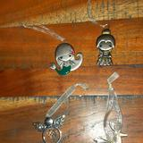 Disney Holiday   Lot Of 4 Ornaments Disney Ariel Belle Metal Pewter   Color: Gray/Silver   Size: Os