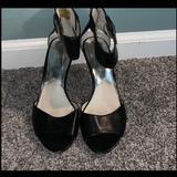 Michael Kors Shoes   Michael Kors Black & Silver Kitten Heels Sandals   Color: Black/Silver   Size: 9.5