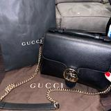 Gucci Bags   Gucci Interlocking Gbuckle Black Leather Authentic   Color: Black   Size: Os