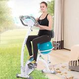 SMLZV Exercise Bikes, Exercise Bikes Stationary Bike Indoor Spin Bike Sports Upright Exercise Bike, Indoor Studio Stationary Exercise Bike With Yoga Ball And LCD Monitor,Aerobic Training Fitness Cardi