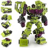 KaKaDz Transfórměrs Tóys, 6 in 1 Oversized Devastator Transformation Toys Cool KO Action Figure Robot Car Trucks Hook Model Boy Toys for Kids