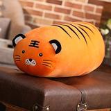 unlockgift Cuddly Long and Plump Animal Tail Plush Throw Pillow Amusing Tiger Fox Raccoon Stuffed Animal Toys (Tiger,39 inch)