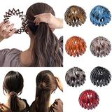 Birds Nest Hair Bands, Ponytail Hairpin Curling Iron Aeoram, Fashion Women Expandable Ponytail Holder Bun Crystal Claw, Hair Accessory for Women Girls (Type C)