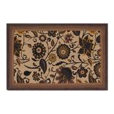 Red Barrel Studio® Audryanna Floral Hand Braided Chocolate Area Rug Jute & Sisal in Brown, Size 72.0 H x 48.0 W x 0.5 D in | Wayfair