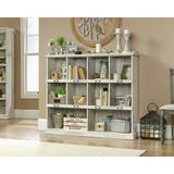 """Loon Peak® Diondra 47"""" H x 53"""" W Barrister Bookcase Wood in Brown/White, Size 47.0 H x 53.0 W x 12.0 D in 