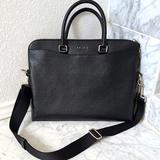 Coach Bags | Coach Black Leather Briefcase Or Laptop Bag | Color: Black | Size: 14 34 (L) X 11 14 (H) X 2 (W)