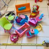 Disney Toys | Doll House Set Furniture Pre-Owned Different Brand | Color: Blue/Pink | Size: One