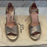 J. Crew Shoes   Jcrew Gold Espadrille Wedge   Color: Gold   Size: 6