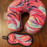 Lilly Pulitzer Accessories   Lilly Pulitzer Travel Pillow & Eye Mask Set   Color: Blue/Pink   Size: Os