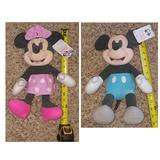 Disney Toys | Disney Baby Mickey & Minnie Mouse Plush Toys | Color: Blue/Pink | Size: Approx 14 Tall
