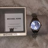 Michael Kors Accessories | Michael Kors Unisex Watch | Color: Blue/Silver | Size: Os