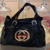 Gucci Bags   Authentic Gucci Black Patient Leather Handbag   Color: Black   Size: Os