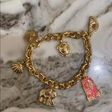 Lilly Pulitzer Jewelry | Charm Bracelet | Color: Gold/Pink | Size: Os