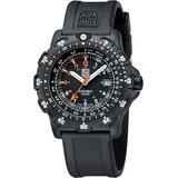 Luminox Mens Recon Point Man Carbon Watch - Black Rubber Strap - Black Dial - L8822