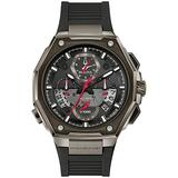 Men's Bulova Precisionist Chronograph Black Rubber Strap Watch 98B358