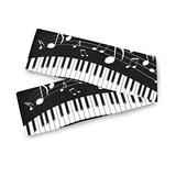 Farmhouse Table Runner for Home Kitchen Dining Table Coffee Table Decor Dining Room Decor Piano Keys Musical Notes Table Linens for Indoor Outdoor Everyday Uses(13x70in)