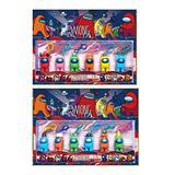 Shefure 6pcs /Set Among Us Toys Anime Figure Mini Carton Models Action Toy Figures Game DIY Decoration Capsule Dolls Blind Box Stuffed Animals & Teddy Bears (Color : 12pcs Keychain)