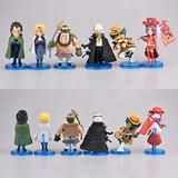 6pcs Anime One Piece WCF Revolutionary Army Sabo Monkey D Belo Betty Morley Action Figure Collectible Model Toys Doll 7-9cm