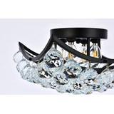 Corona 12 inch black flush mount - Elegant Lighting V9800F12BK/RC