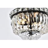 Tranquil 8 inch black flush mount - Elegant Lighting V2528F8BK/RC