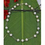 My Gems Rock! Women's Necklaces white - Cultured Pearl & Sterling Silver Station Necklace