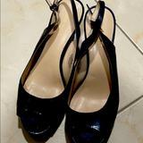 Nine West Shoes   Nine West Open Toe Sling Back Platform Heels   Color: Blue   Size: 8.5