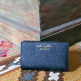 Kate Spade Bags | Kate Spade Cameron Bifold Leather Wallet Black | Color: Black | Size: Os