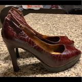 Nine West Shoes   Peep Toe Ankle Strap Heel   Color: Brown   Size: 8