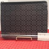Coach Accessories   Coach Black Laptop I-Pad Covercase   Color: Black   Size: Approx. 10.5 In. Long, 8.5in.High, .75in.Thick