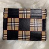 Burberry Accessories | - Burberry Mens Card Holder Wallet | Color: Black/Brown | Size: Os