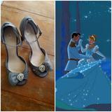 Disney Shoes   Disney Cinderella Princess Bridal Shoes   Color: Gray/Silver   Size: 8.5w